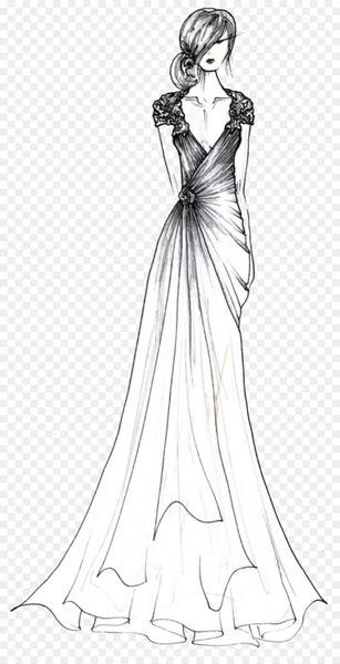 Contemporary Western wedding dress Wedding photography Sketch - Women's manuscript simple pen  png image transparent background