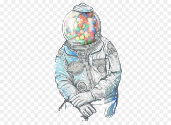 Chewing gum Gumball machine Drawing Bubble gum T-shirt - astronaut  png image transparent background