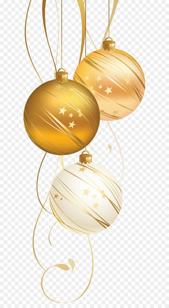 Christmas ornament Christmas decoration New Year Christmas card - Golden Christmas Ball  png image transparent background