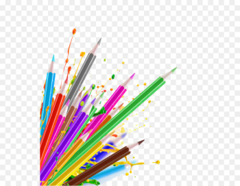 Colored pencil Drawing Sketch - crayons png  png image transparent background