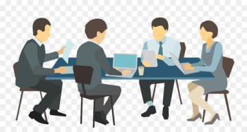 Meeting Desk Illustration - Business people meeting  png image transparent background