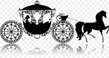 Cinderella Carriage Drawing Illustration - Carriage Silhouette  png image transparent background