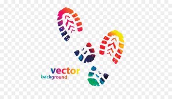 Shoe Footprint Sneakers Converse Clip art - Colorful footprints Creative  png image transparent background