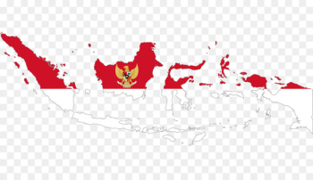 Flag of Indonesia Map Indonesian - indonesia  png image transparent background