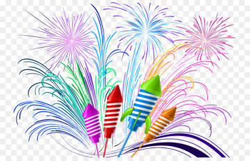 Singapore Public holiday Diwali Happiness Wish - Vector color fireworks  png image transparent background