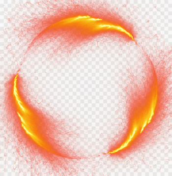 Light Fire Flame - Burst of fire round border  png image transparent background