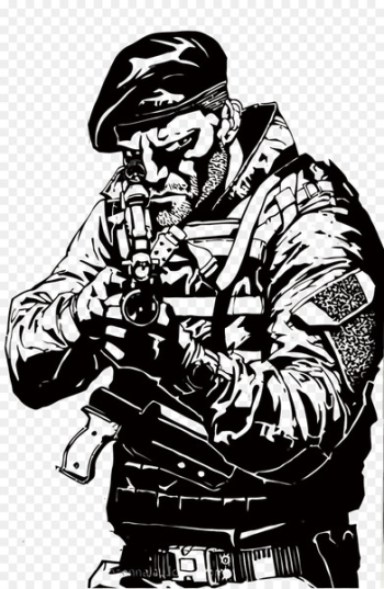 Drawing The Expendables Soldier - Vector attack the soldiers  png image transparent background