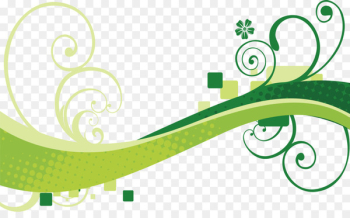 Euclidean vector Green Wind wave Wave vector - Curly green  png image transparent background