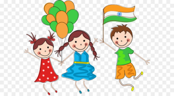 Indian Independence Day Child Republic Day - Vector Student Balloon  png image transparent background