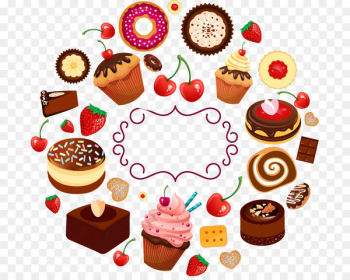 Cupcake Donuts Frosting & Icing Dessert Menu - chocolate cartoon  png image transparent background