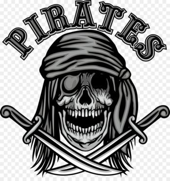 T-shirt Skull Euclidean vector - Vector Pirate Skull and knife  png image transparent background
