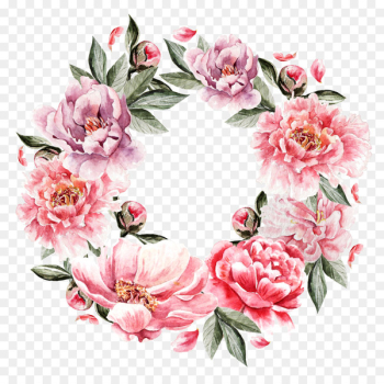 Flower Painting Wreath - Hand-painted flowers flower cluster  png image transparent background