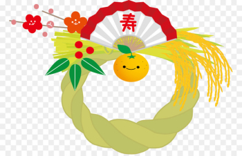 Shimenawa Japanese New Year Christmas and holiday season Nanakusa-no-sekku -   png image transparent background