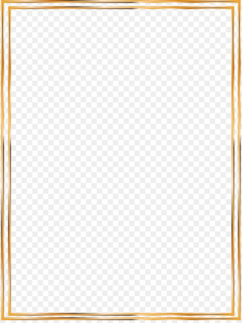 Icon - Vector Gold Line border  png image transparent background