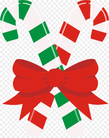 Candy Cane, Candy, Santa Claus, Ribbon, Christmas PNG png image transparent background