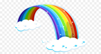 Rainbow Reese's Peanut Butter Cups Light Color Illustration - Rainbow with Clouds PNG Clipart  png image transparent background