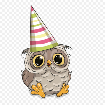 Owl Birthday Greeting card Party - Owl birthday  png image transparent background