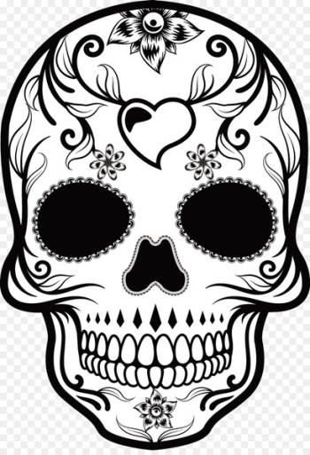 Calavera Mexican cuisine Skull Day of the Dead - Hand-painted pattern vector Skull  png image transparent background