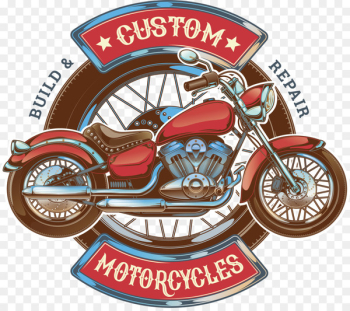 Motorcycle Car Scooter Logo - Red retro motorcycle  png image transparent background