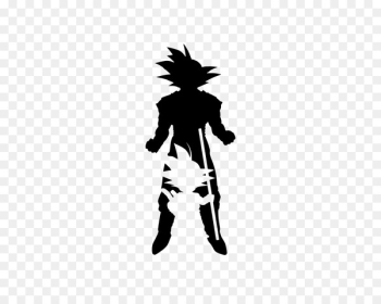 Goku Vegeta YouTube Dragon Ball Silhouette - reflex vector  png image transparent background