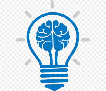 Incandescent light bulb Brain Icon - Cartoon brain bulb icon  png image transparent background
