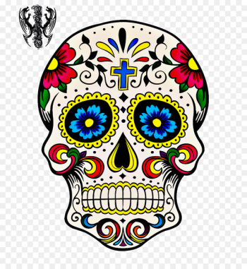 Day of the Dead Calavera Drawing Skull art - calavera ornament  png image transparent background