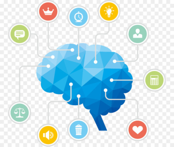 Information processing theory Psychology Human brain - Vector blue brain  png image transparent background