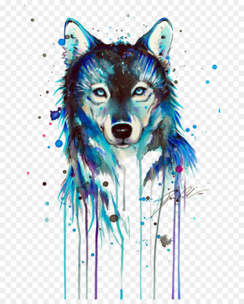 Dog Tattoo Art Drawing Arctic wolf - Dark Wolf  png image transparent background