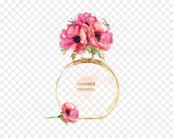 Chanel No. 5 Watercolor painting Perfume Printmaking - Perfume flowers  png image transparent background