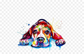 Beagle French Bulldog Golden Retriever Printing - Watercolor puppy  png image transparent background