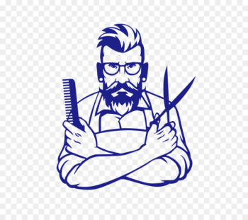 Comb Barber Sticker Hairdresser Beauty Parlour - Holding a comb and scissors barber  png image transparent background