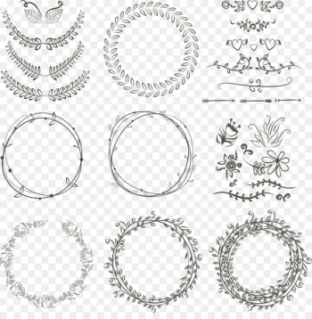 Laurel wreath Wedding invitation Drawing Scalable Vector Graphics - Vector flowers ring  png image transparent background