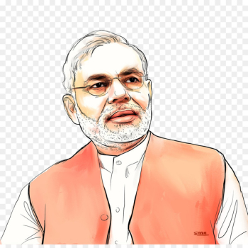 Narendra Modi Government of India Prime Minister of India - caricature  png image transparent background
