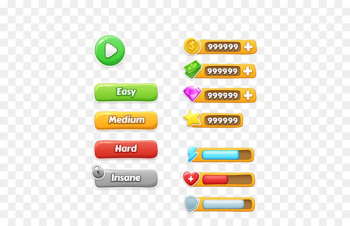 Button Game Download Icon - Game UI design online game  png image transparent background