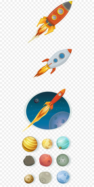 Airplane Rocket-powered aircraft - Hand-painted rocket  png image transparent background