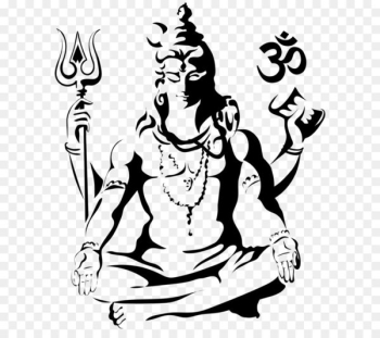 Shiva Drawing Parvati Sketch - Harihara PNG Clip Art Image  png image transparent background