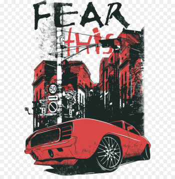 T-shirt Hoodie Top Sweater - Cars city prints  png image transparent background