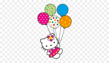 Hello Kitty Birthday cake Cat Clip art - Hello Kitty With Balloons Png  png image transparent background