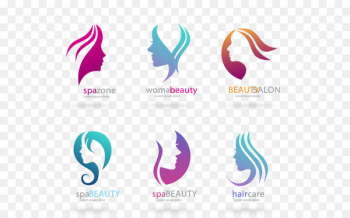 Beauty Parlour Logo Cosmetics - Vector head of a woman of beauty salons flag  png image transparent background