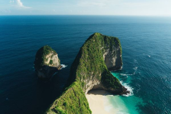 aerial photography of island png image transparent background