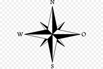 North Cardinal direction Compass - old map and compas  png image transparent background