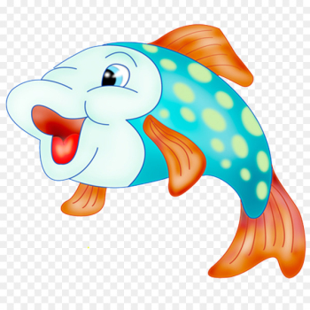 Goldfish Cartoon Illustration - Cartoon cute little fish  png image transparent background