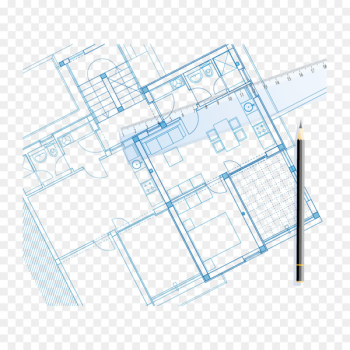 Blueprint Drawing Architecture Facade - Vector pen sketch and house  png image transparent background