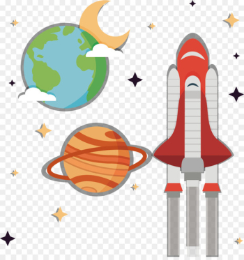 Earth Planet Outer space Drawing - Earth and alien planet  png image transparent background