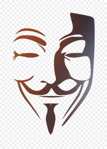 Guy Fawkes mask V Abziehtattoo -   png image transparent background