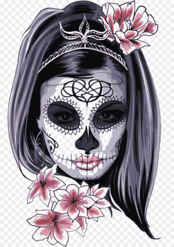 La Calavera Catrina Skull Drawing Day of the Dead - Women's day  png image transparent background