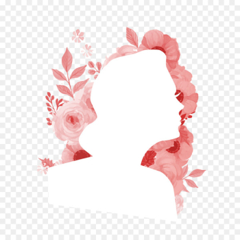 Female Silhouette Flower Woman - Beauty silhouette  png image transparent background