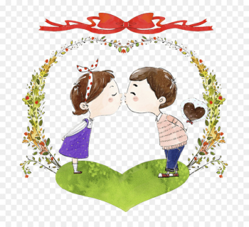 Kiss Love Illustration Significant other Romance - kissing  png image transparent background