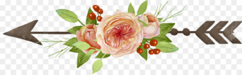 Garden roses Drawing Clip art - Arrow  png image transparent background