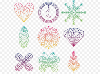 Euclidean vector Drawing - Bohemian elements  png image transparent background